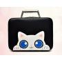 """Кейс чемоданчик для косметики """"Котик с голубыми глазками"""" 4-1027-2 Черный"""
