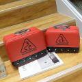 Двухцветный кейс чемоданчик 3 Concept Eyes со стразами 4-1022-2 Красный-черный