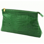 Косметичка из натуральной кожи Dimanche Casino А зеленая