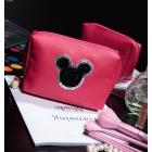 Косметичка Mickey застежка с жемчужиной 4-1009-2 Красная