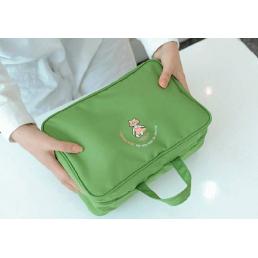 Большая раскладная дорожная косметичка Tiny-Toy 1-1028-2 Зеленое яблоко