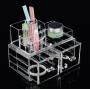 Акриловый органайзер для косметики прозрачный комод+стойка 5-1037-1