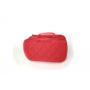 Косметичка органайзер из нейлона с 2-мя отделениями и зеркалом 8-1002-5 Красная