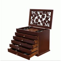 Деревянная шкатулка «Счастливый листок» 5 ящиков 3-1079-1 Орех