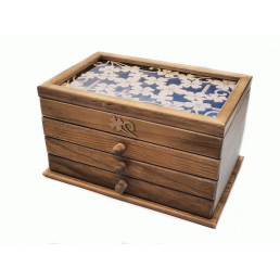 Шкатулка из дерева Lucky Clover 3 ящика 3-1086-1 Дуб