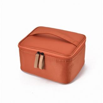 Большая косметичка с отделениями в форме шкатулки 3-1037 Оранжевая