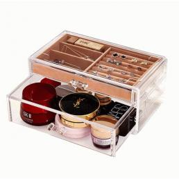 Акриловый органайзер для украшений и косметики (2 полки) 5-1083-1