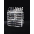 Акриловый органайзер для косметики прозрачный комод+стойка 5-1088-1