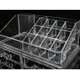 Акриловый органайзер для косметики прозрачный комод+стойка 5-1090-1