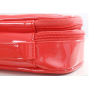 Косметичка органайзер из лаковой кожи с 2-мя отделениями 8-1050-2 Красная